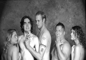 Jessica Smith, Ryan Tipton, Tim Vance, Johnathan Mindham, and Katelin Stack in Theater Undreground's  Doubting Thomason.