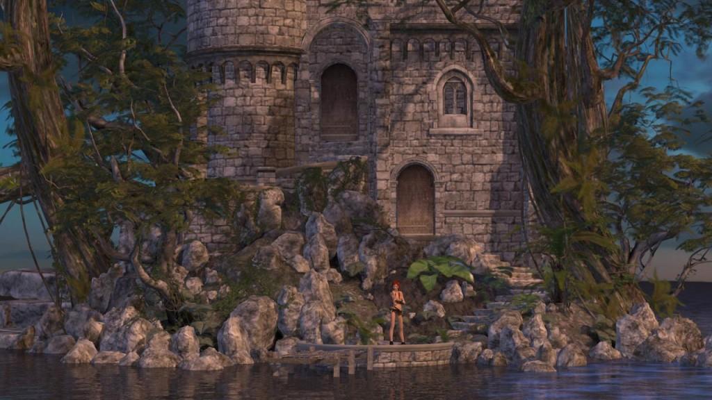 Sara at the castle base